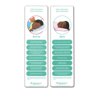 keep your baby safe from SIDS bookmark, SIDS safety tips, sudden infant death syndrome, Childbirth Graphics, 23348