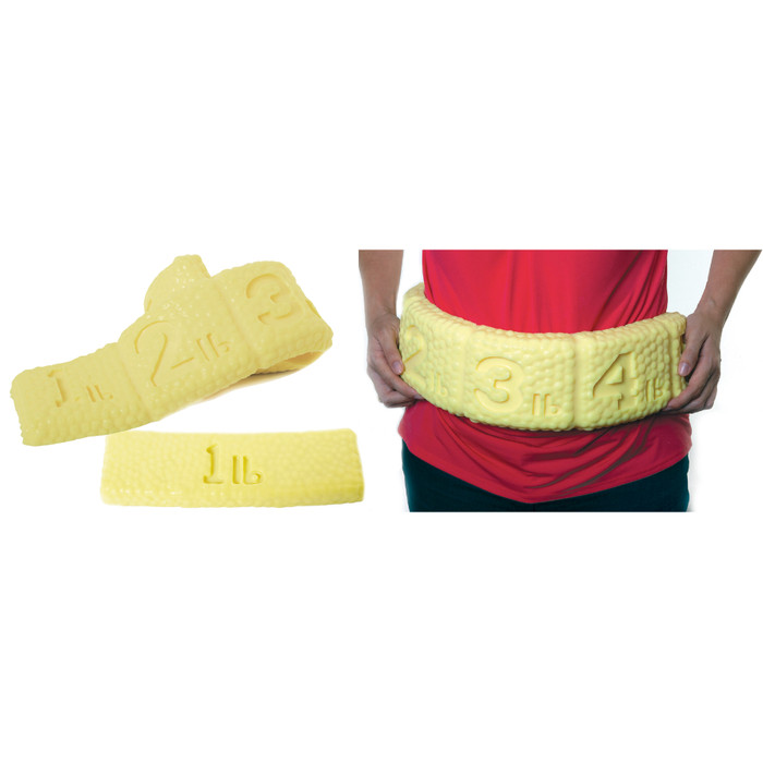 Rolls of Fat Set (1 lb and 5 lb) for health education, nutrition education materials and models, Health Edco, 26013