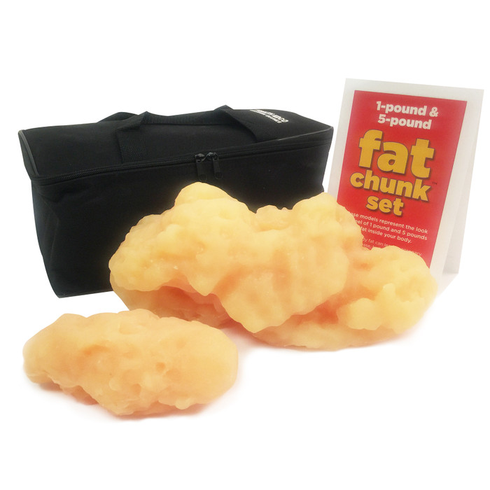 fat chunk model set, 1 and 5 pounds of fat, look and feel of fat, Health Edco, 26017