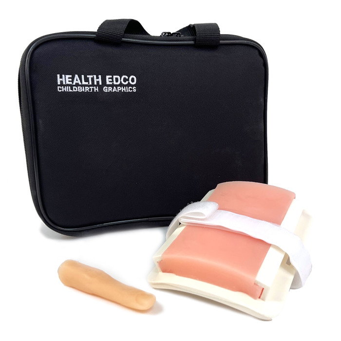 diabetic injection models, simulated skin and finger, practice site, Health Edco, 26102