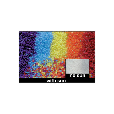 UV Detecting Beads, beads change color exposed to UV light, 240 beads per pack, Health Edco, 30183
