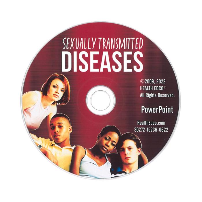 STDs PowerPoint, 38-frame graphic STD presentation on disc, Health Edco, 30272