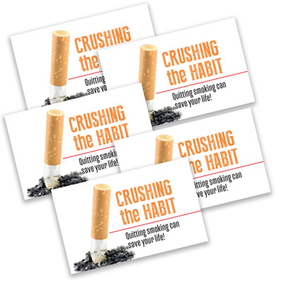 Quit Smoking folded 8-panel pocket guide, quit smoking guide reasons and ways to quit, Health Edco, 37003