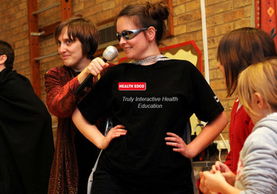 Health Theatre, actors playing out situations involving health topics, Health Edco, 37520