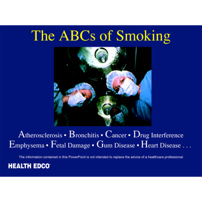 ABCs of Smoking PowerPoint frame 1 operation from patient view, Health Edco, 48500