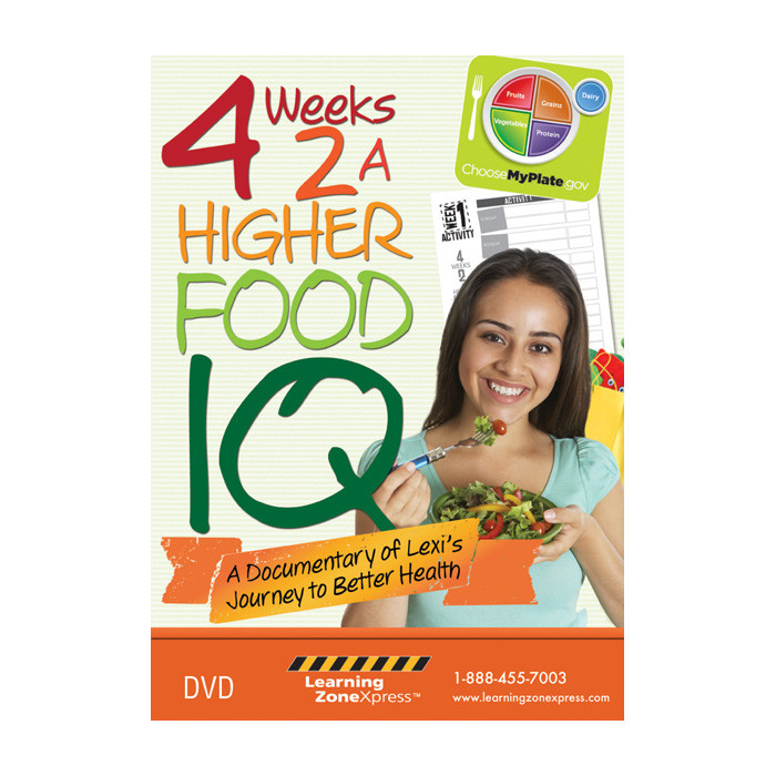 4 Weeks 2A Higher Food IQ DVD, a documentary of Lexi's Journey to better Health, Health Edco, 48853