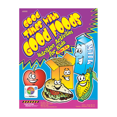 Good Times With Good Foods Activity Book Ages 2-6, healthy eating snacks more, Health Edco, 50390