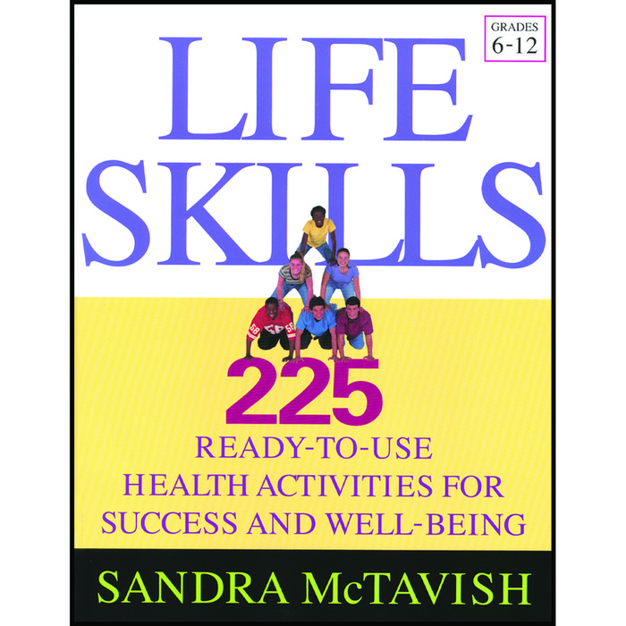 Life Skills 225 health activities book grade 6-12 cover, pyramid of kids, Health Edco, 50852