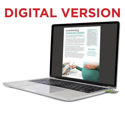 Understanding Gestational Diabetes Virtual Educational Resource, Childbirth Graphics pregnancy teaching tool on laptop, 52498V