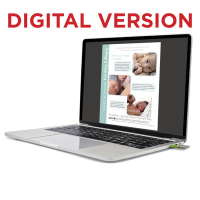 How to Tell Whether Your Baby Is Hungry Virtual Educational Resource, Childbirth Graphics teaching tool on laptop, 52512V