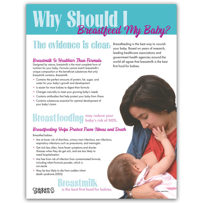 Why SHould I Breastfeed My Baby tear pad for childbirth and lactation education from Childbirth Graphics, front side, 52594