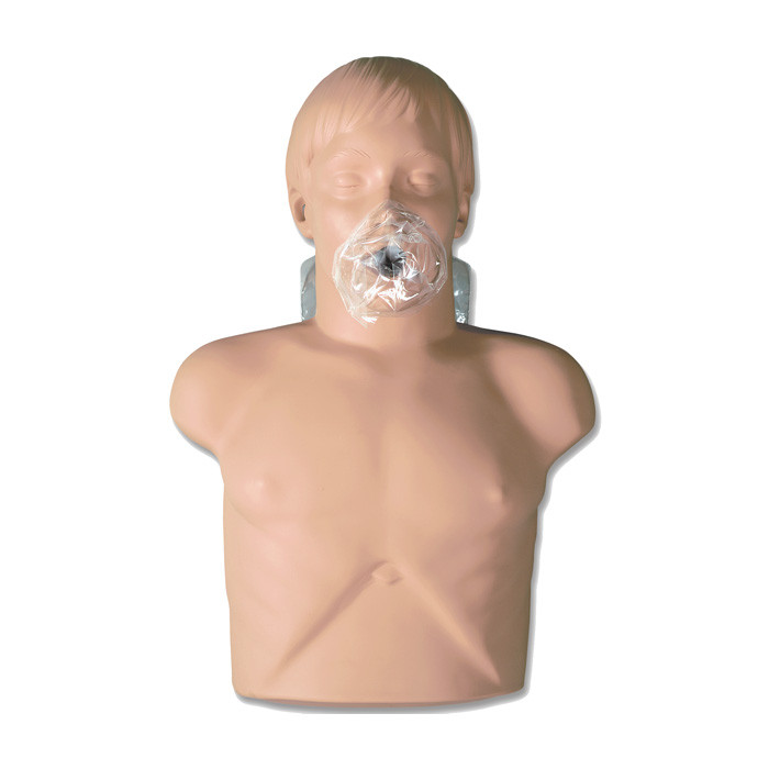 Economy Adult Sani-Manikin for CPR training and health education with face shield over mouth for CPR, Health Edco, 56046