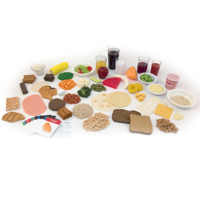 Eatwell Faux Foods Package of 46 faux food models for nutrition education to teach the UK Eatwell Guide, Health Edco, 78956