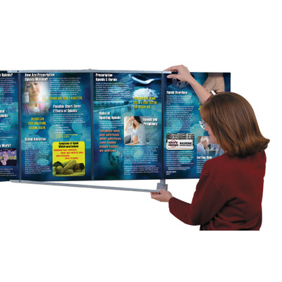 Folding Display Wall Hanger for health education displays, health education materials, Health Edco, 79015