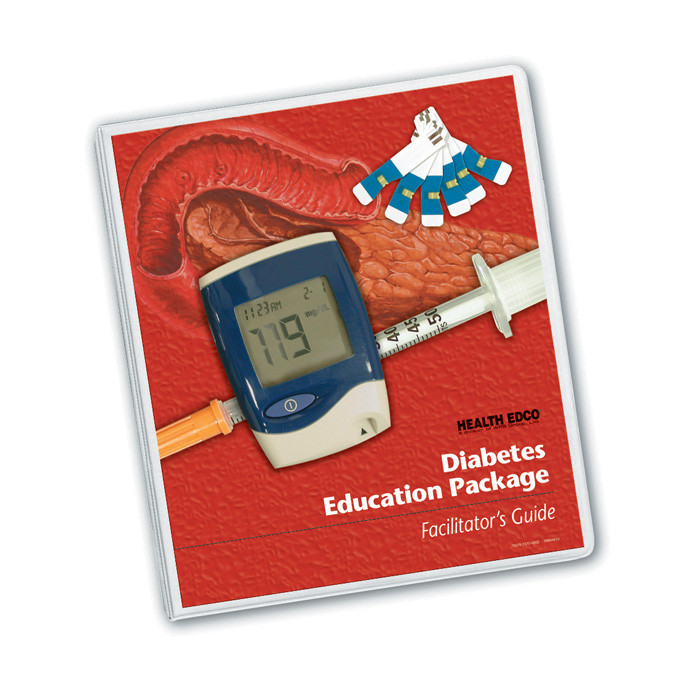 Diabetes Education Package facilitator's guide, health education diabetes education models and materials, 79370