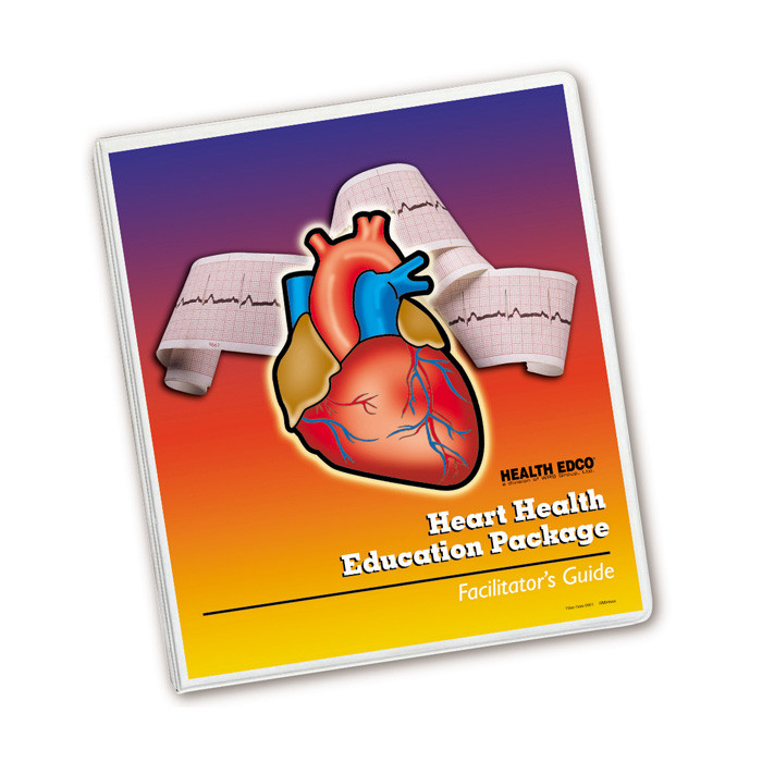 Heart Health Education Package for health education by Health Edco, facilitator's guide to teach about heart health, 79372
