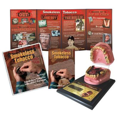 Smokeless Tobacco Education Package from Health Edco with Mr Gross Mouth Model, educational display, guide, and more, 79374