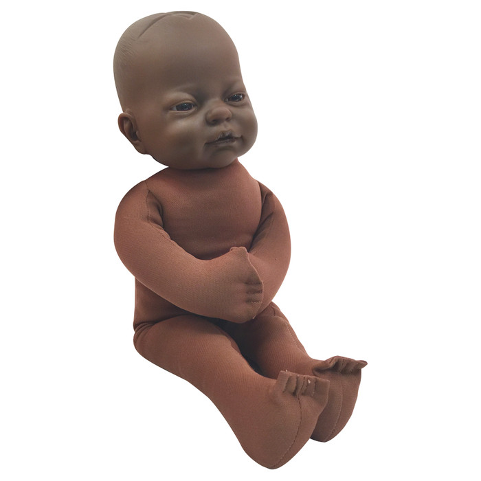 Foetal Model with dark brown skin tone, childbirth education materials, childbirth teaching tools, Childbirth Graphics, 79816