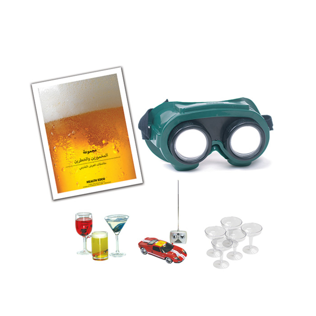 Health Edco; health education; alcohol awareness products; drunk driving; drink-driving; blood alcohol concentration; intoxicated driving; DUI; DWI; BAC; Arabic translation; alcohol goggles