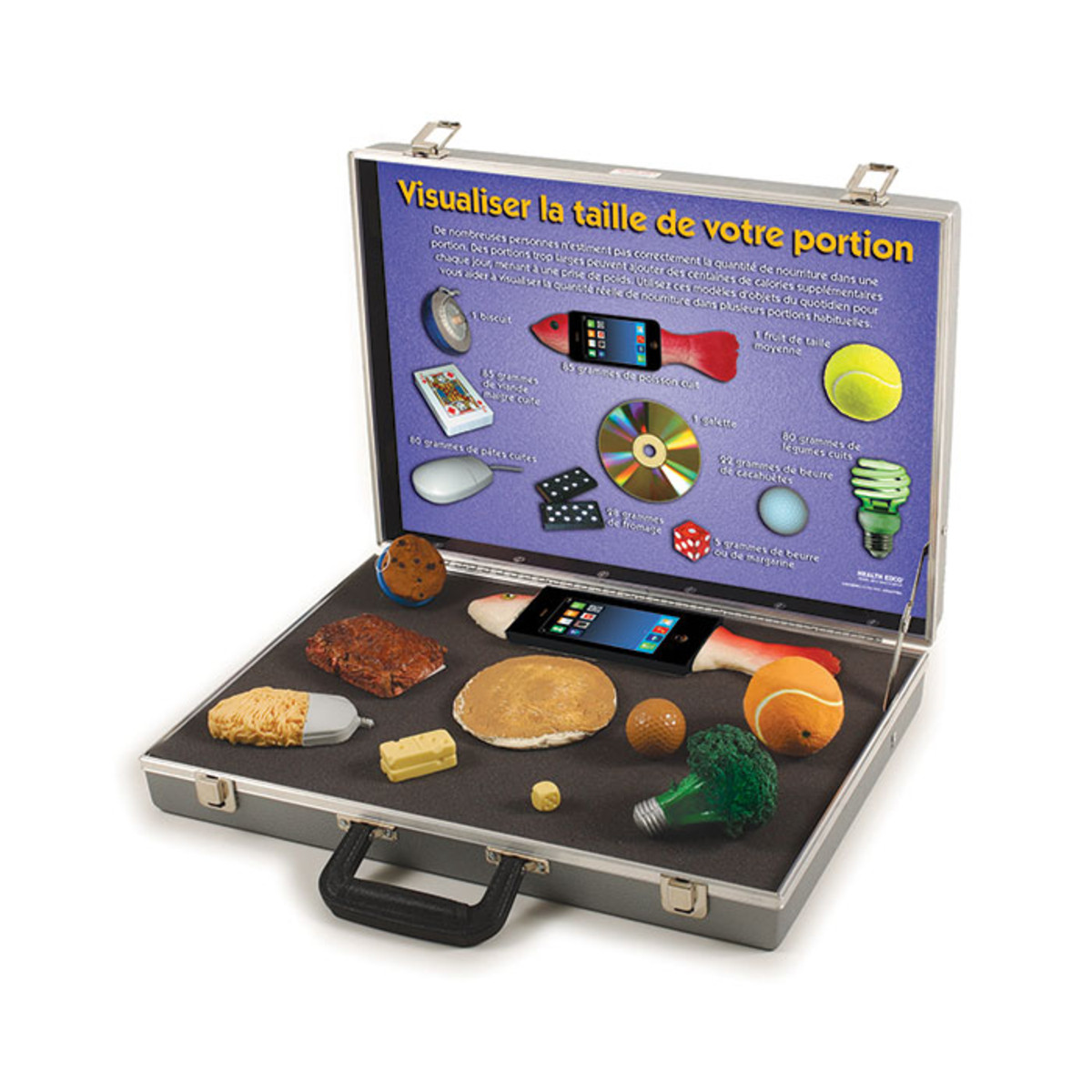 Health Edco; French; health education products; diabetes; weight gain; portion size